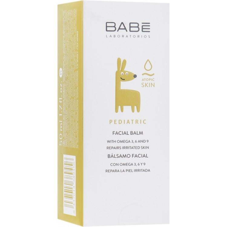 Babe Laboratorios Facial Balm - Детский крем-бальзам для лица при сухости, атопии, раздражениях и непогоде 50 мл