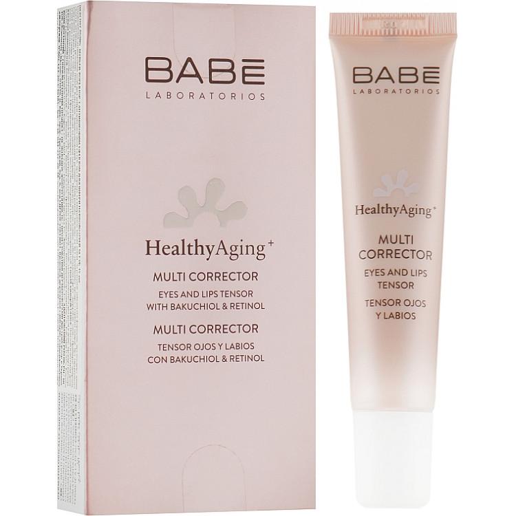 Babe Laboratorios Healthy Aging Multi Corrector - Мультикорректор с антивозрастным эффектом для кожи вокруг глаз и губ 15 мл