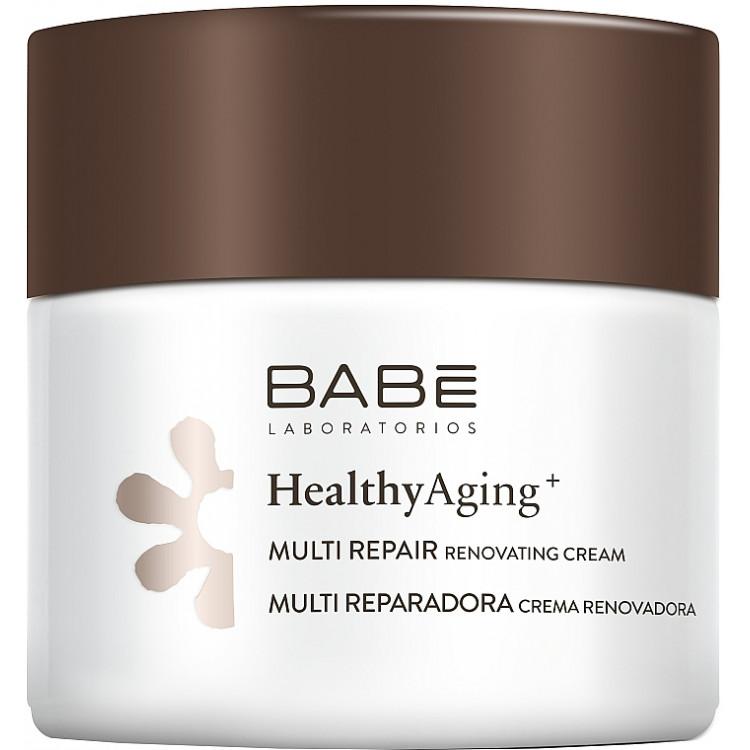 Babe Laboratorios Healthy Aging Multi Repair Renovating Cream - Ночной мультивосстанавливающий крем с антивозрастным комплексом 50 мл