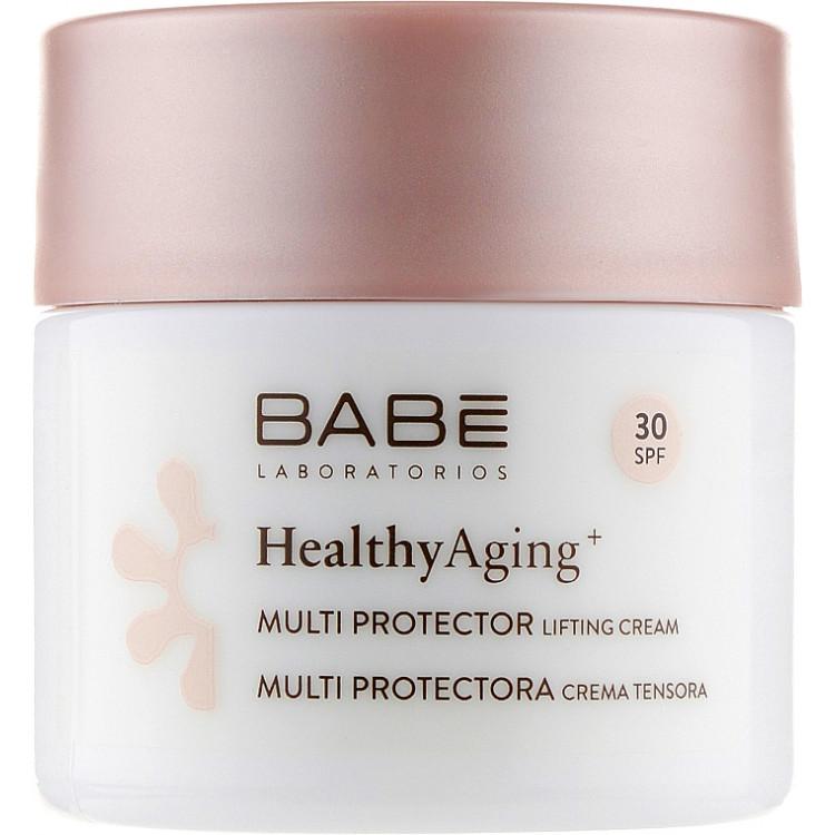 Babe Laboratorios Healthy Aging - Дневной мультизащитный лифтинг крем c DMAE и SPF 30 50 мл