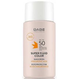 Babe Laboratorios - Солнцезащитный флюид для лица с отенком SPF 50+ 50 мл