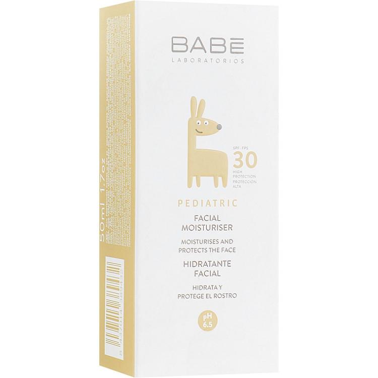 Babe Laboratorios Facial Moisturizer SPF 30 - Детский увлажняющий крем для лица с SPF 30 50 мл