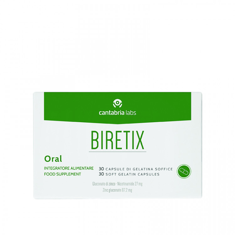 Oral Food Supplement - Бад с глюконатом цинка и никотинамидом, 30 капсул