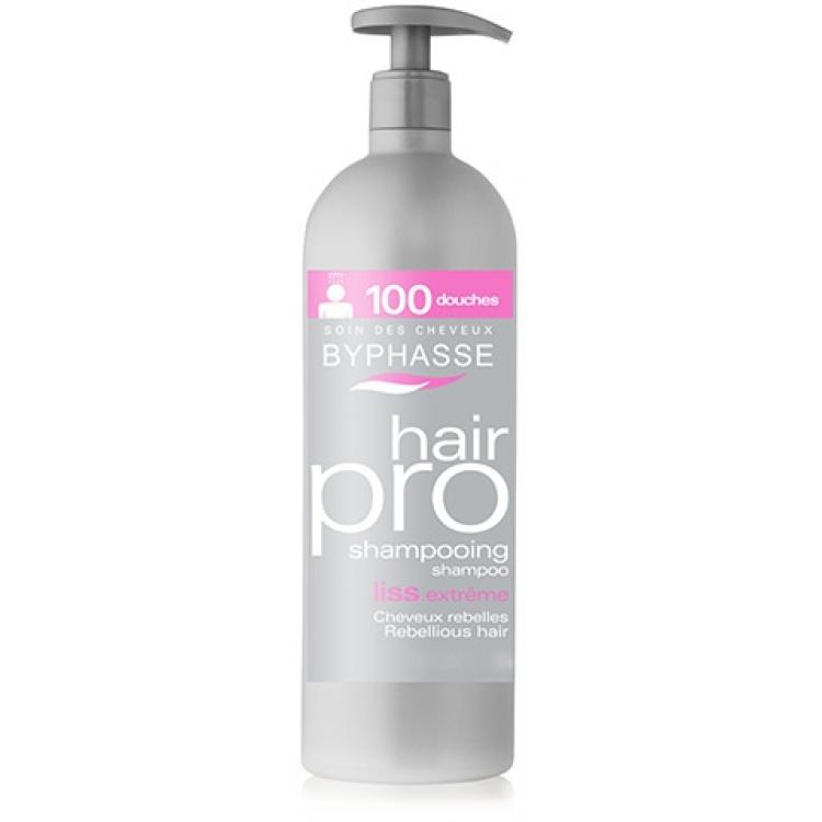 Byphasse Hair Pro Shampoo Liss Extreme - Шампунь для гладкости и блеска волос 1 л