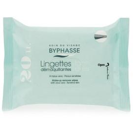 Byphasse Aloe Vera Make-up Remover Wipes Sensitive Skin-Салфетки для снятия макияжа, 20шт