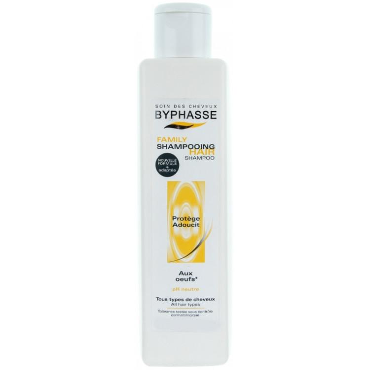 Byphasse Family Shampoo Шампунь для всех типов волос с яичным желтком 750 мл