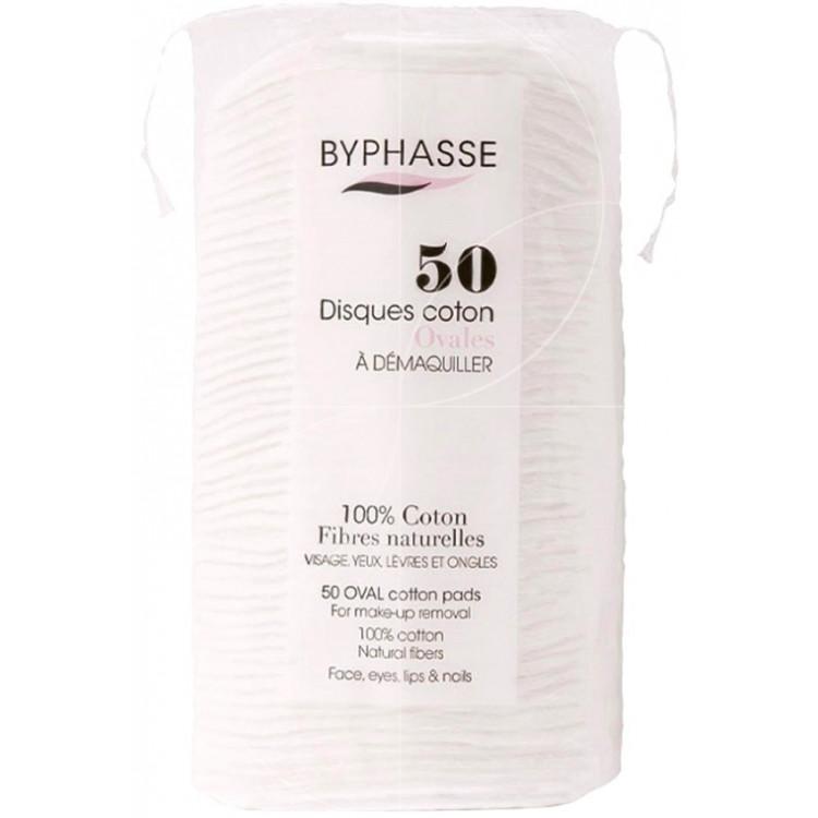 Byphasse Cotton-Ватные диски для снятия макияжа 50шт