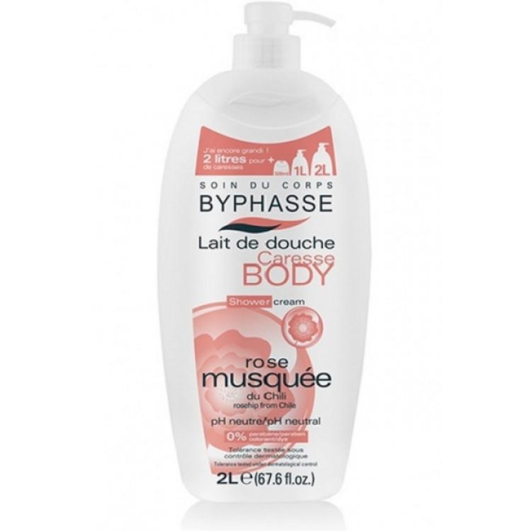 "Byphasse Caresse Shower Cream - Крем для душа ""Шиповник"" 2 л"