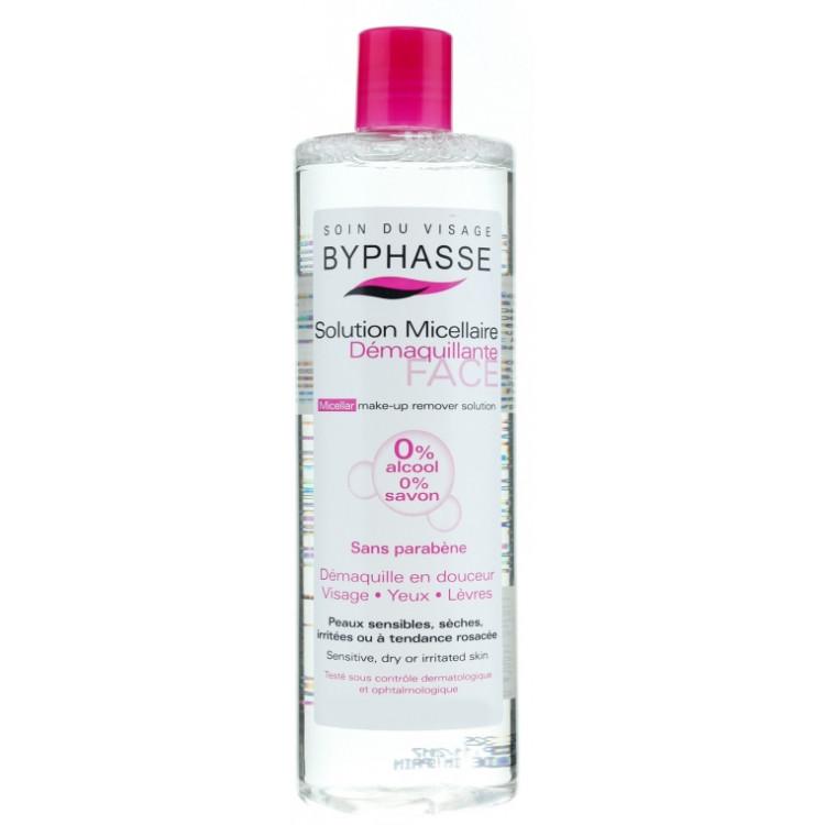 Byphasse Micellar Make-Up Remover Мицеллярная вода для очистки лица 500 мл