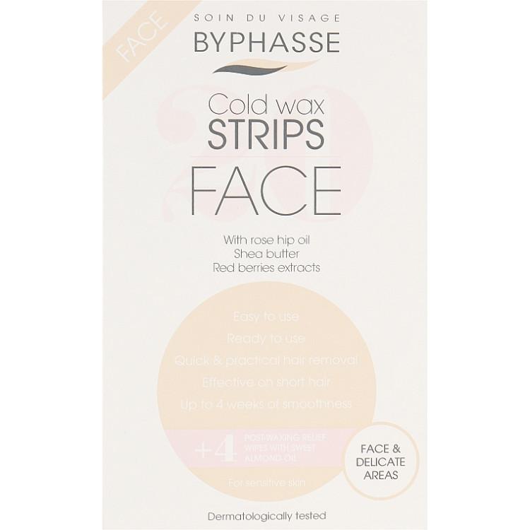 Byphasse Wax Strips - Восковые полоски для депиляции лица и деликатных зон