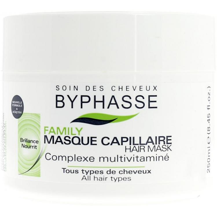 Byphasse Family Multivitamin Complexe Mask - Маска для всех типов волос с мультивитаминным комплексом 250 мл