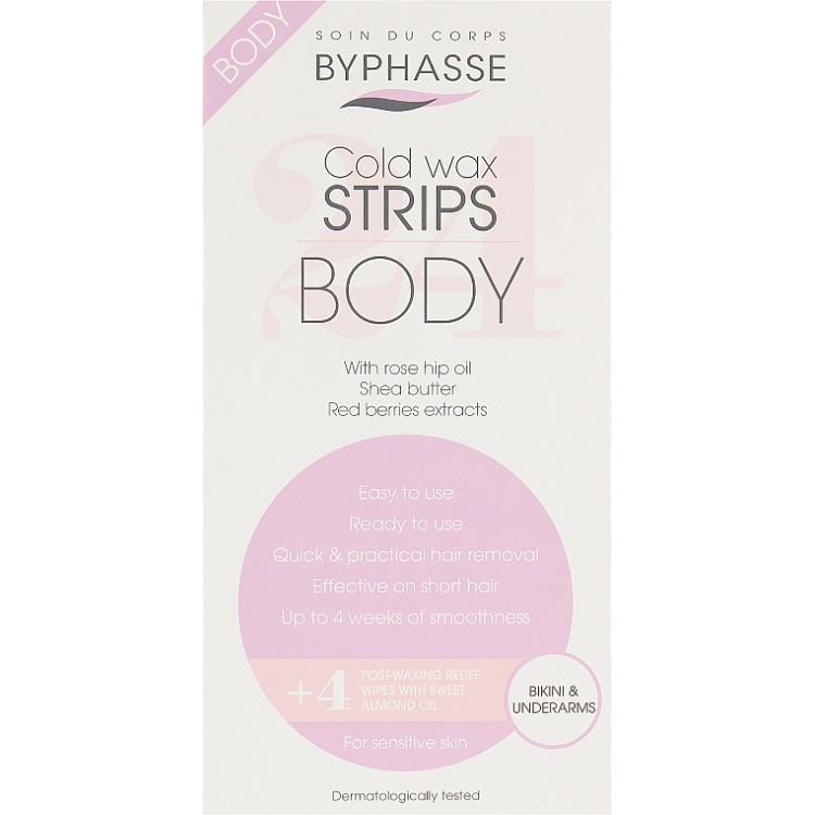 Byphasse Body Sensitive Skin - Восковые полоски для депиляции зоны бикини и подмышек