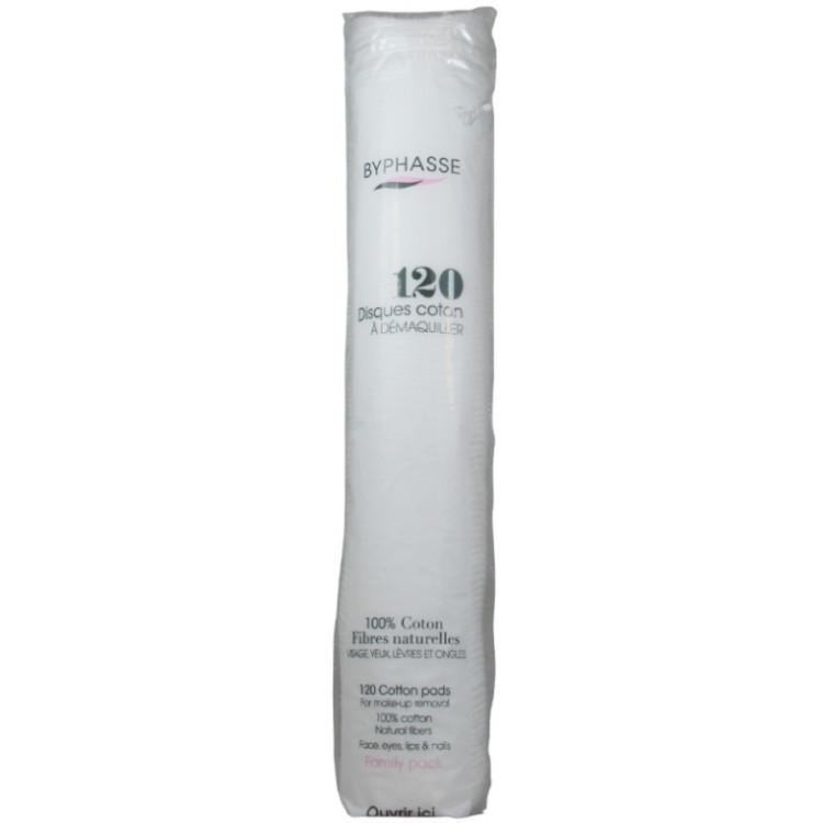 Byphasse Cotton-Ватные диски для снятия макияжа 120 шт