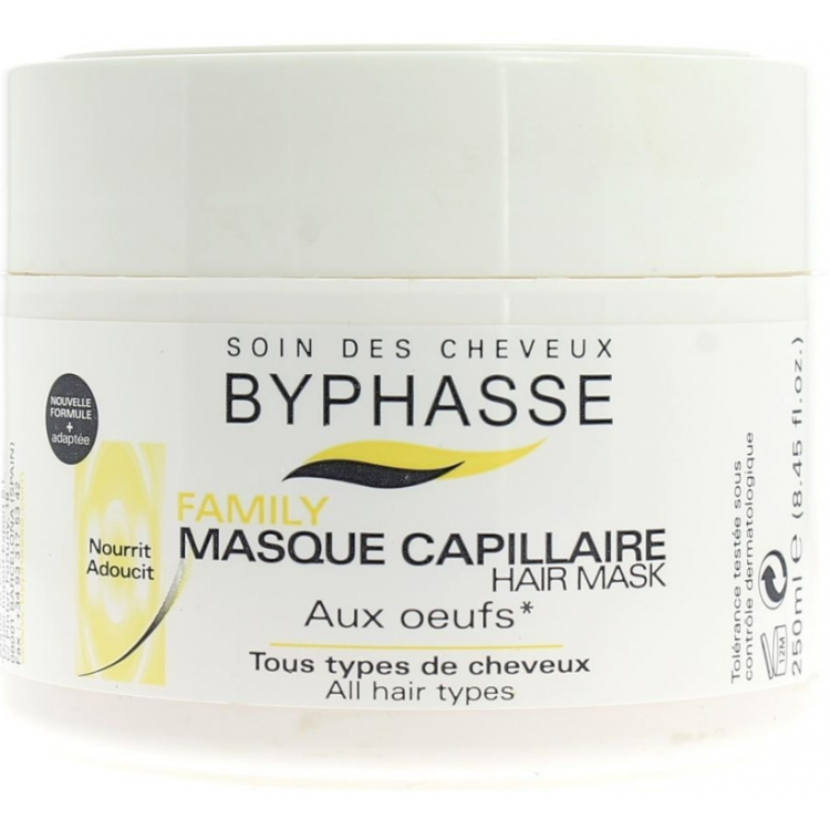 Byphasse Family Multivitamin Complexe Mask - Маска с яичным желтком для всех типов волос 250 мл