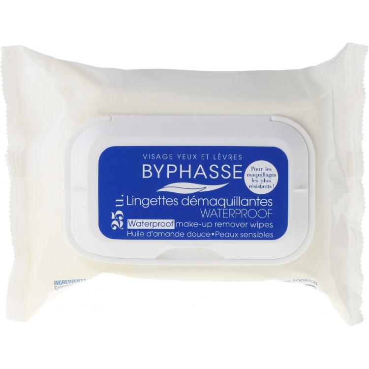 Byphasse Make-up Remover Waterproof Sensitive Skin Wipes -Салфетки для снятия макияжа