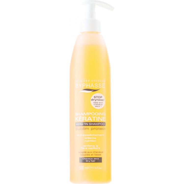 Byphasse Keratin Shampoo Sublim Protect - Шампунь для волос  520 мл