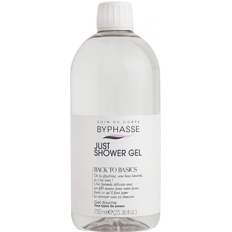 Byphasse Back To Basics Just Shower Gel - Гель для душа для всех типов кожи 750 мл