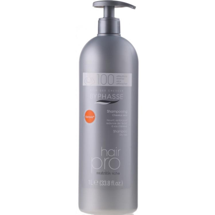 Byphasse Hair Pro Shampoo Nutritiv Riche-Шампунь питательный для сухих волос 1000 мл