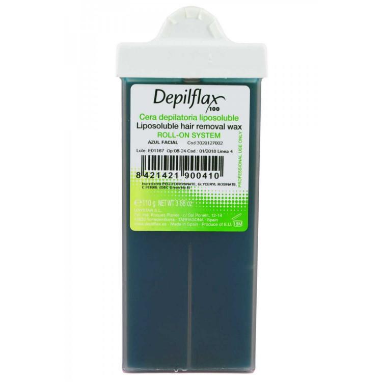 Liposoluble hair removal wax azulene 110 g - Тёплый воск в картридже с узким роликом 100, азуленовый