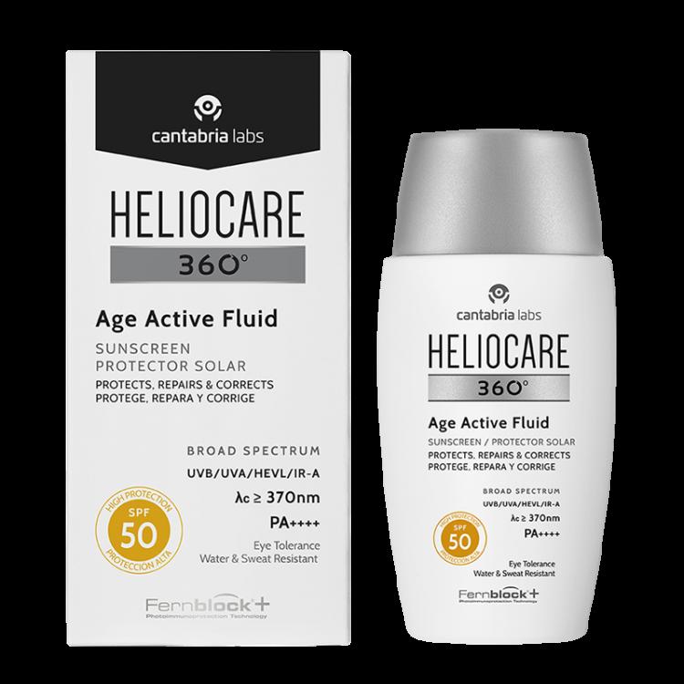 HELIOCARE 360º AGE ACTIVE FLUID – Солнцезащитный омолаживающий флюид SPF 50, 50 мл