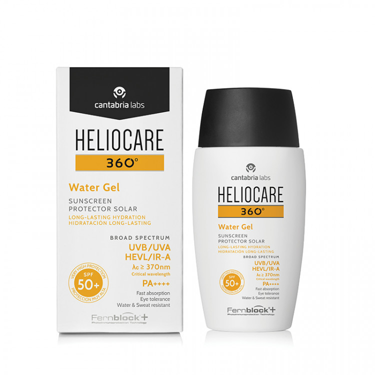 Heliocare 360º Sunscreen moisturizing gel-fluid SPF 50+ 50 ml – Солнцезащитный увлажняющий гель-флюид SPF 50+