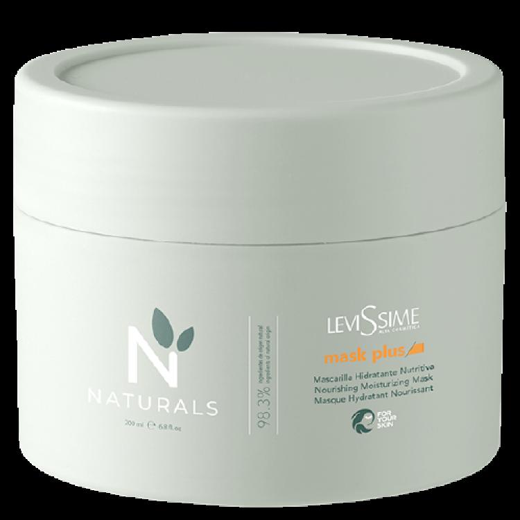 Levissime NATURALS MASK PLUS 200 ml - Увлажняющая и восстанавливающая маска-скраб