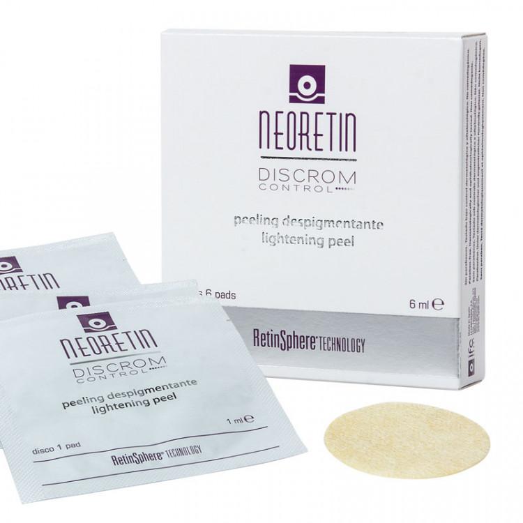 Discrom Control Peeling brightening 6 x 1 ml - Пилинг осветляющий, диски с пропиткой