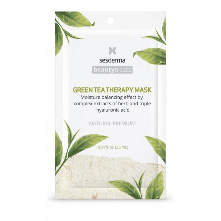 BEAUTYTREATS Green tea therapy mask – Маска увлажняющая для лица, 25 мл